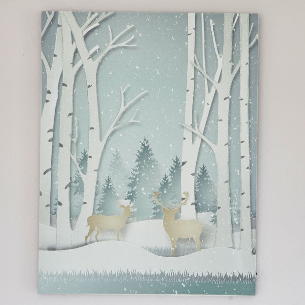Picture of Wintery Forest LED Print.