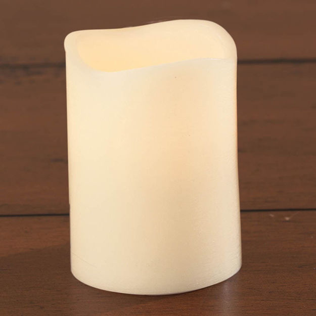 """Picture of LED Candle with/Timer,Ivory 4"""""""
