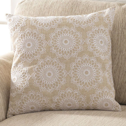 Picture of Lacy Flowers Pillow Cover,