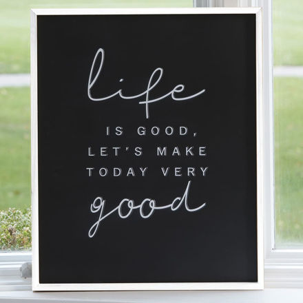Picture of Life Wood Sign