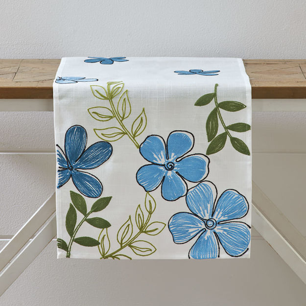 Picture of Blue Floral Runner